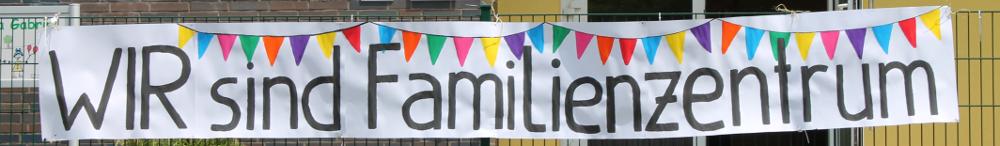 Wir sind Familienzentrum klein - Banner